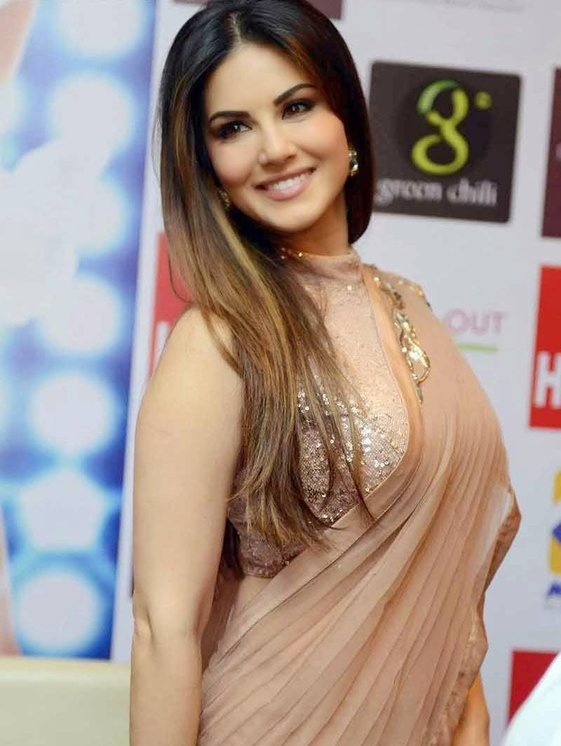 Image result for sunny leone in saree