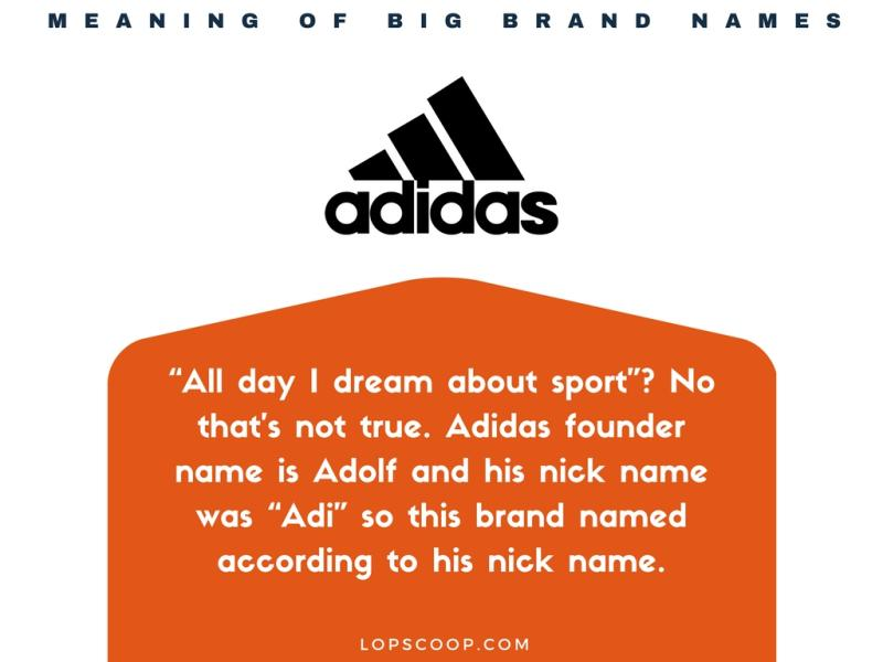 Meaning Of Big Brands Names - True meaning brand names