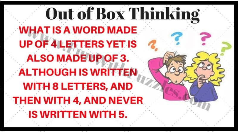 Out of Box Thinking Riddles for Teens